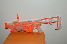 NERF RECON CS-6 Clear Orange Nerf Gun Blaster Scope Clip Stock Light Sight Rare