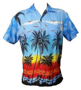 Hawaiian-Shirt-Mens-Coconut-Tree-Print-Beach-Camp-Party-Aloha-Beach-Holiday-Camp
