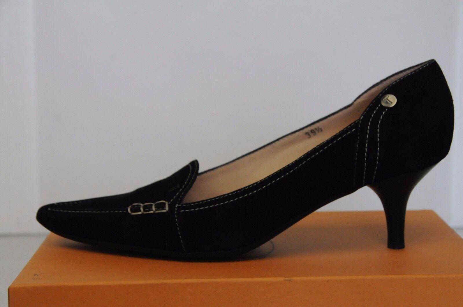 New TOD'S Fondo Novak Mocassins Driving shoes Suede Black Suede shoes 39.5 12c615