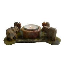 Teelichthalter Elefanten Speckstein 13x8cm Wohnen Dekoration Kerzenständer