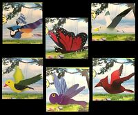 Yard Art Hanging Outdoor Mobile Ornament Garden Decoration-birds Bugs-wings Move