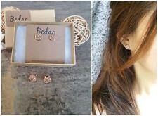 Rose Gold Druzy Earrings Studs, Rose Gold Earrings, Bridal Earrings, Bridesmaids