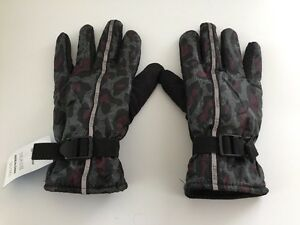 Mens Warm Gear Ski Gloves Insulated Waterproof Winter Black Sz L