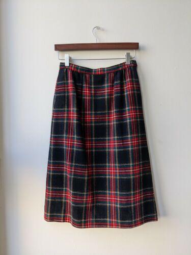 Vintage Pendleton Maxi Skirt 100% Wool Black Stewa