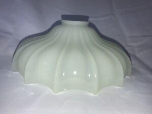 Vtg-Custard-Petticoat-Glass-Lamp-Shade-Opaline-Bridge-Torchiere-Pendant-10-034