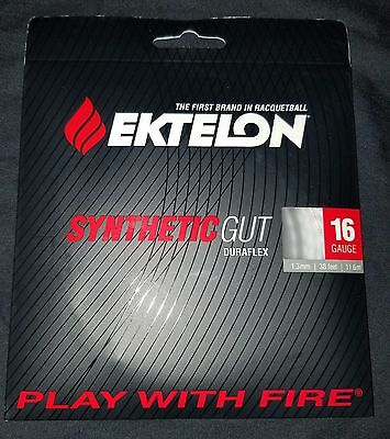 Ektelon Synthetic Gut Duraflex 16 Gauge 1.3 mm Tennis Racket String