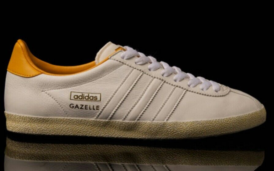 Rara retro & Adidas Gazelle OG Blanco & retro Naranja Leather zapatos 11 675001 VTG 92ed6f