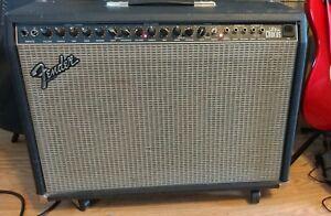 90 39 s fender ultra chorus combo amp made in usa 2x12 guitar amplifier pr204 ebay. Black Bedroom Furniture Sets. Home Design Ideas
