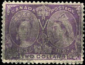 1897-Used-Canada-F-Scott-62-2-00-Diamond-Jubilee-Issue-Stamp