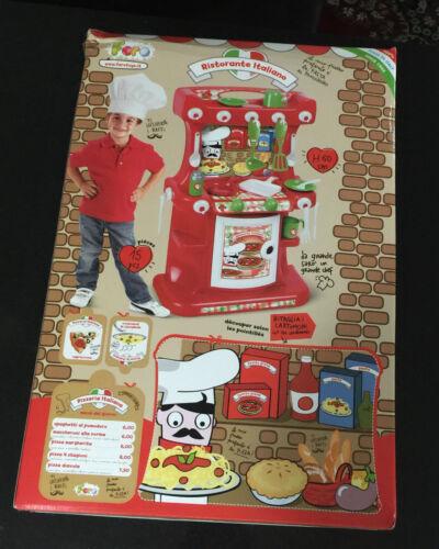 Kitchen Pretend Play Cooking Toy Faro Ristorante Italiano Chef Ages 3 Boys Girls