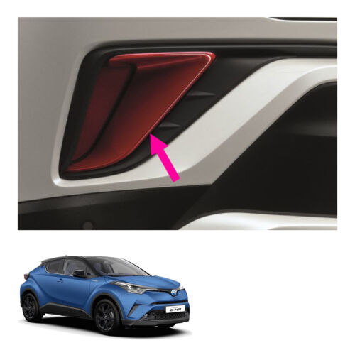 Fits Toyota C-HR Suv 18 19 Genuine Lh Rh Pair Rear Bumper Garnish Trim Red