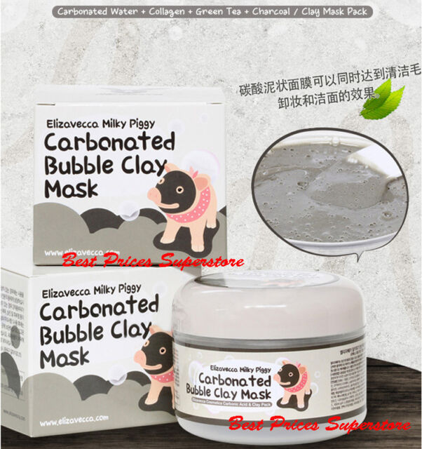 Elizavecca 100g Milky Piggy Carbonated Bubble Clay Mask USA FAST SHIPPING!