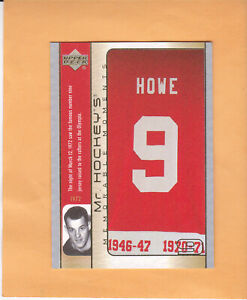 2003-04-UPPER-DECK-MR-HOCKEY-GH15-GORDIE-HOWE-DETROIT-RED-WINGS