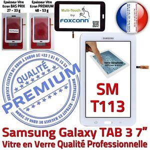 Vitre-Tactile-SM-T113-TAB-3-Assemblee-Adhesif-Premonte-Samsung-Ecran-Blanc