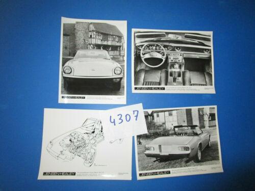 N°4307 JENSEN-HEALEY 4 photos constructeurs march 1972