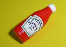 UNIQUE Handmade HEINZ KETCHUP BADGE  mixed up dolly TOMATO SAUCE pin / brooch