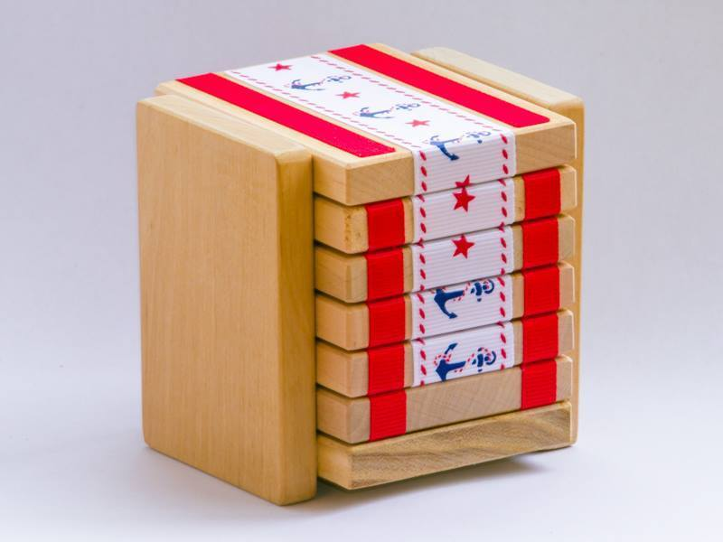 4 X WOODEN HAND MADE TOY  JAKTAK LADDER    MAGIC TRICK   Christmas Present  LOOK