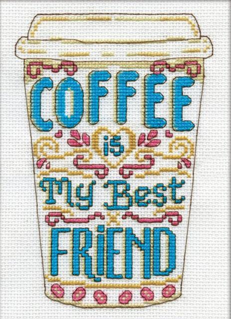 Cross Stitch Kit ~ Design Works Coffee Friend #DW3212