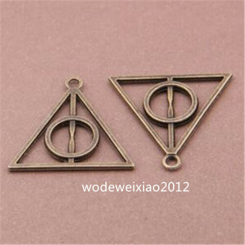 10pc Charms Pendant Triangle Deathly Hallows Connectors Jewellery Wholesale J973