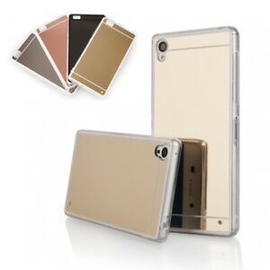 Schutzhülle Silikon TPU Handyhülle Cover Case Metallic Spiegel Edel Luxus