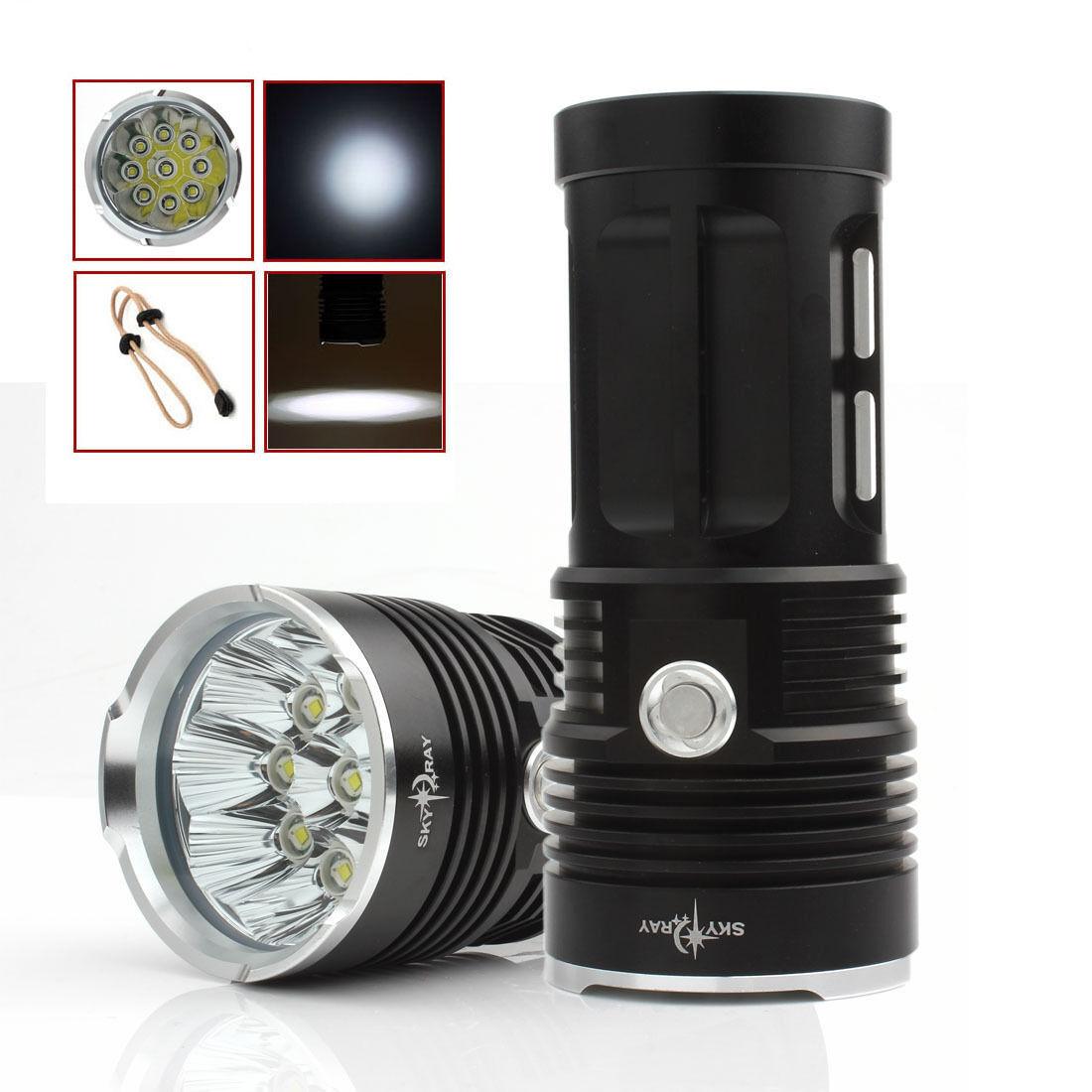 LAMPE TORCHE 9 LED LED LED 22000 LUMENS LED CREE FLASHLIGHT + 4 PILES 18650 + CHARGEUR 3bda60