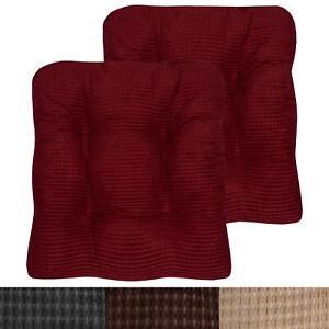Fluffy Memory Foam Non Slip Chair, Memory Foam Chair Pad 2 Pack