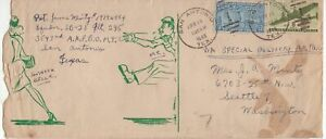 USA-Special-Delivery-AIR-MAIL-1946-cover-from-Texas-with-cartoon-on-cover