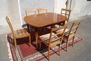 Bauhaus Esstisch deco bauhaus esstisch tisch mit stühlen sitzgruppe nussbaum
