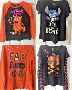 Halloween Girls Shirt Stitch New