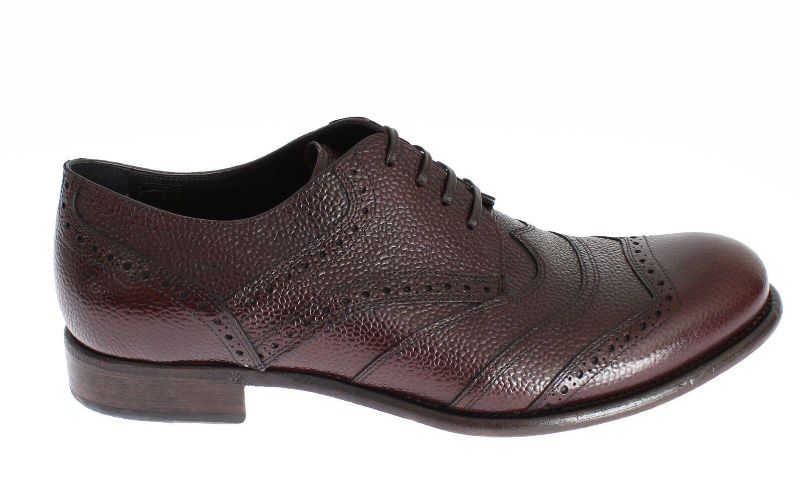 Nuova con Etichetta Dolce & Gabbana Scarpe Marrone Bordeaux pelle Abito S.EU39 / Scarpe classiche da uomo
