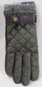 POLO RALPH LAUREN OLIVE LEATHER WATER REPELLENT THINSULATE GLOVES NWT