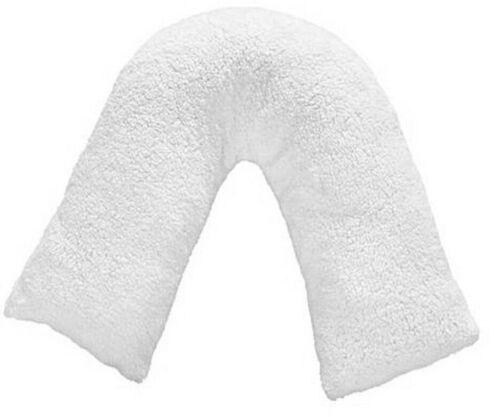 Teddy Fleece Orthopaedic V Shaped Neck Back Support Pregancy Pillowcase only