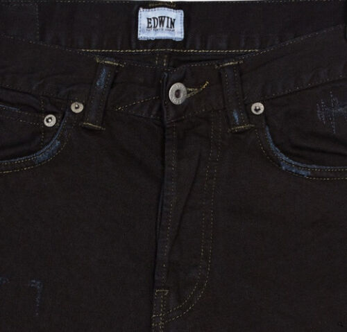 Val Mince Homme Jeans Ed 110 Edwin L34 80 Noir profond Tapered W36 wavapIgq