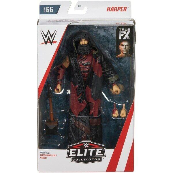 Wwe Luke Harper Fx Nuevo Accesorios Mattel Elite Serie 66 Figura de Lucha Nxt