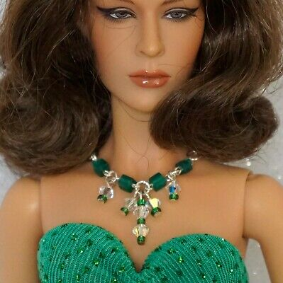 """Rhinestone Necklace and Earring Jewelry Set fits 16/"""" Tonner dolls 065B"""