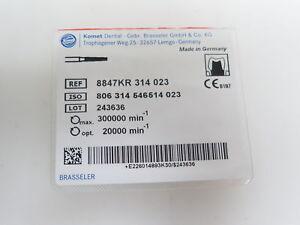1 Boîte 5 Pcs. Comète Brasseler Dentaire Diamant Perceuse Réf 8847kr 314 023-afficher Le Titre D'origine Service Durable