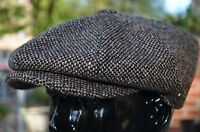 Thick 100% Wool Brown Tweed Winter Applejack 8panel Newsboy Cabbie Hat Golf Cap