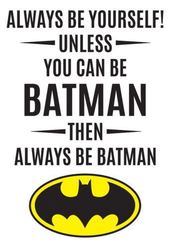 Batman Always Be Batman Quote Wall Decal Playroom Bedroom Art Vinyl Stick