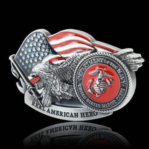 United States Marine Corps Metal Vintage Men Belt Buckle Cowboy Western 38-40mm