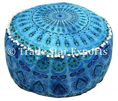 Ottomans & Footstools Special Section Indian Tie Dye Mandala Pouf Ottoman Cover Round Floor Footstool Ethnic Pouffe Home, Furniture & Diy