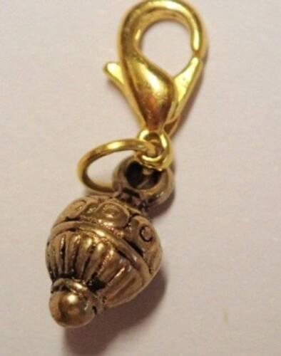 Gold Tone Cute Bauble Clip On Bracelet Charm
