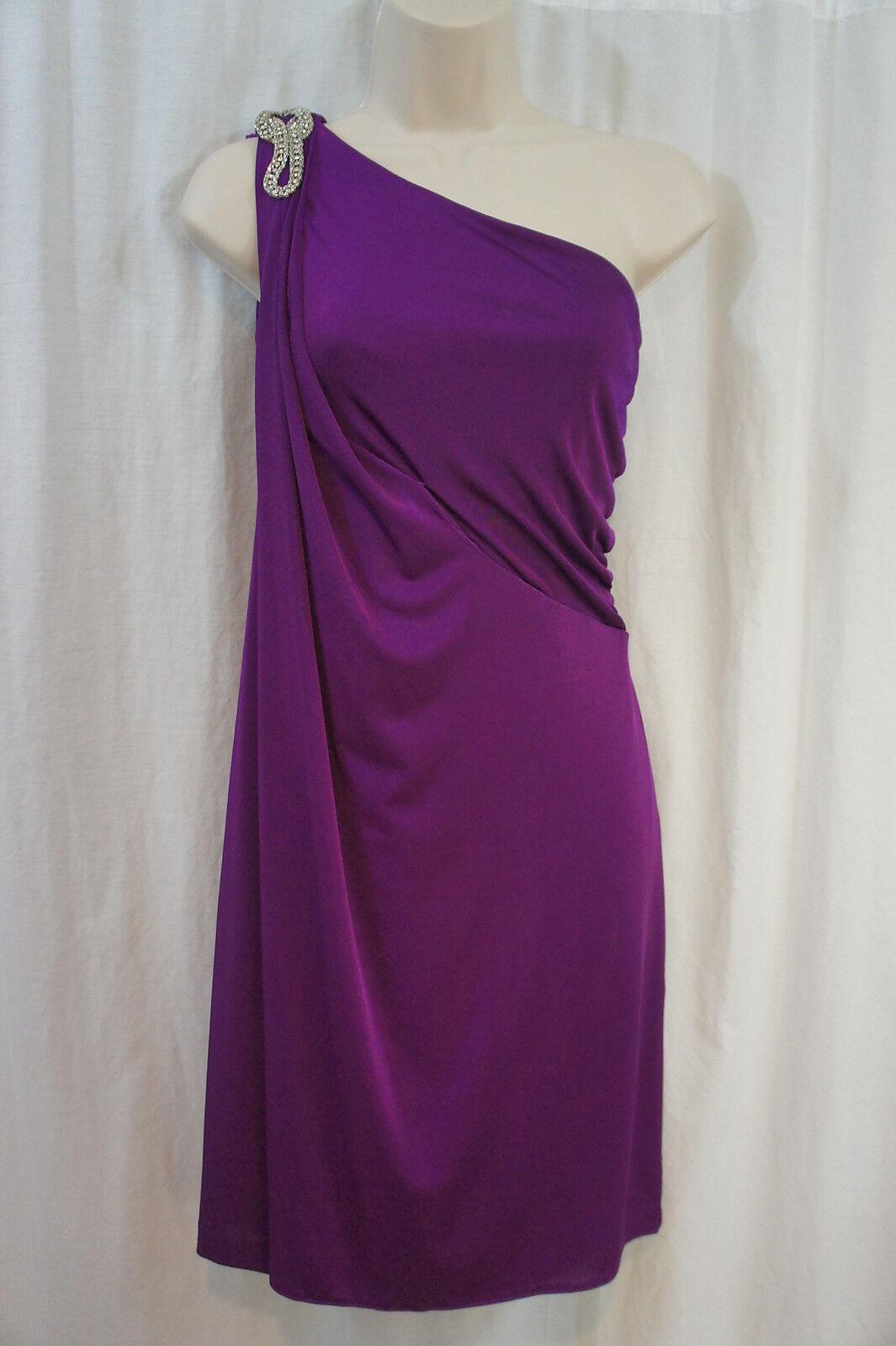 Patra Dress Ltd. Dress  Sz 10 Magena Ruched One Shoulder Evening Cocktail Dress
