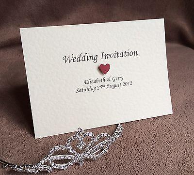 Amabile 10 X Personalizzati Diurni O Serali Handmade Wedding Inviti-campioni Gratuiti- Processi Di Tintura Meticolosi