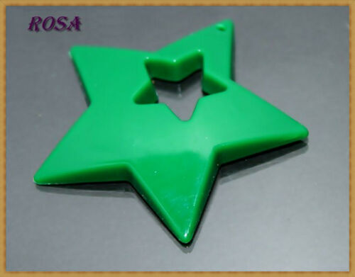 Acrylique perles étoiles 50mm//2 pièce