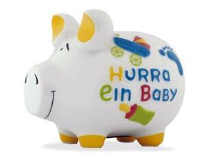 Hurra-Ein-Baby-Piggy-Bank-Money-Box-17-cm-Motif-Money-Mittelschwein