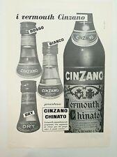 Pubblicità epoca 1956 CINZANO VERMOUTH CHINATO old advertising werbung publicité