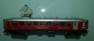 MARKLIN-HO-ref-4035-WAGON-VOITURE-RESTAURANT-SBB-CFF-SWITZERLAND-A-BOGIES