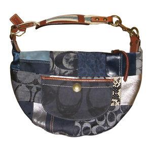 Signature g patchwork purse coach