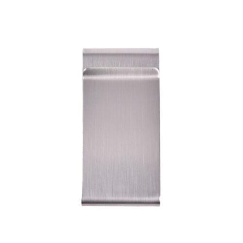 Two-Sided Stainless Steel Slim Pocket Money Clip Wallet Credit Card Cash Holder~