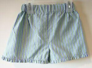 968aa5ba4a New Bella Bliss Green Dotty Stripe Shorts With Ruffle Girl's Size 4 ...